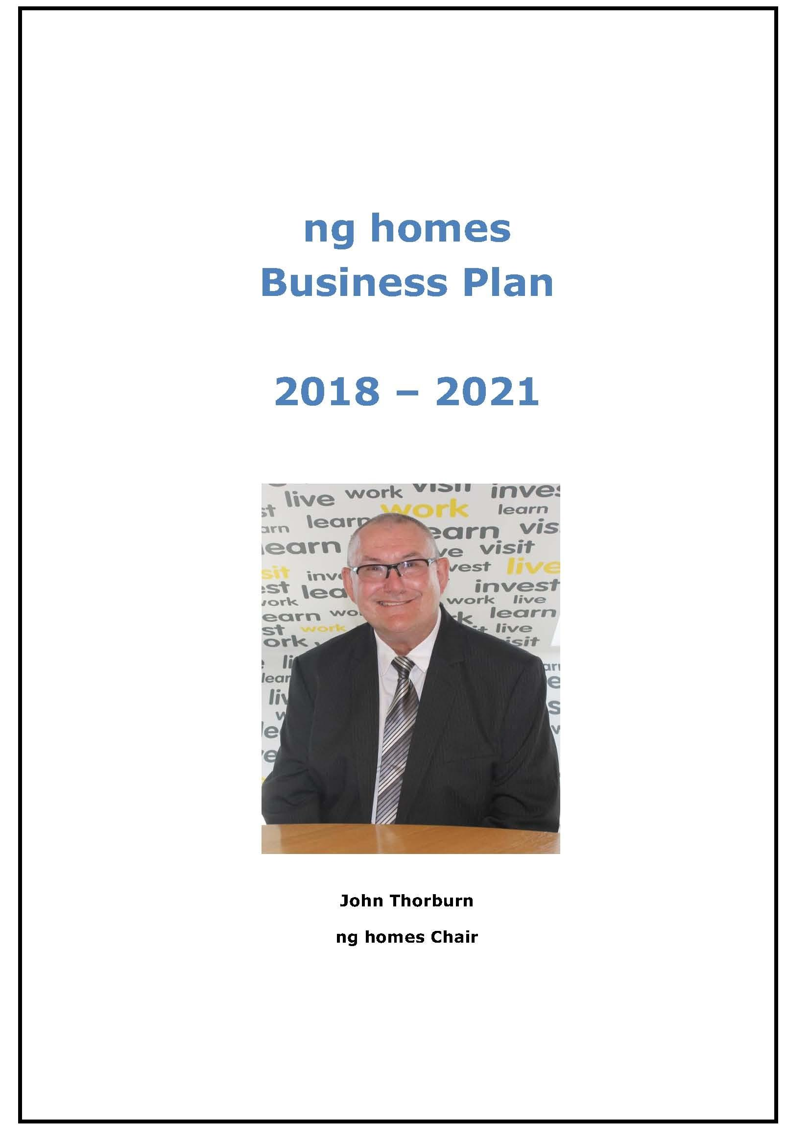 2018-2021 Business Plan cover
