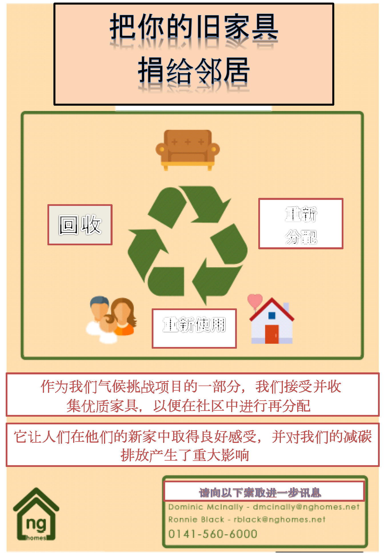 Furniture Redistribution Poster in Chinese