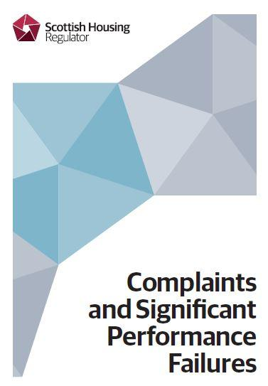 Shr Complaints And Significant Performance Failures leaflet front cover